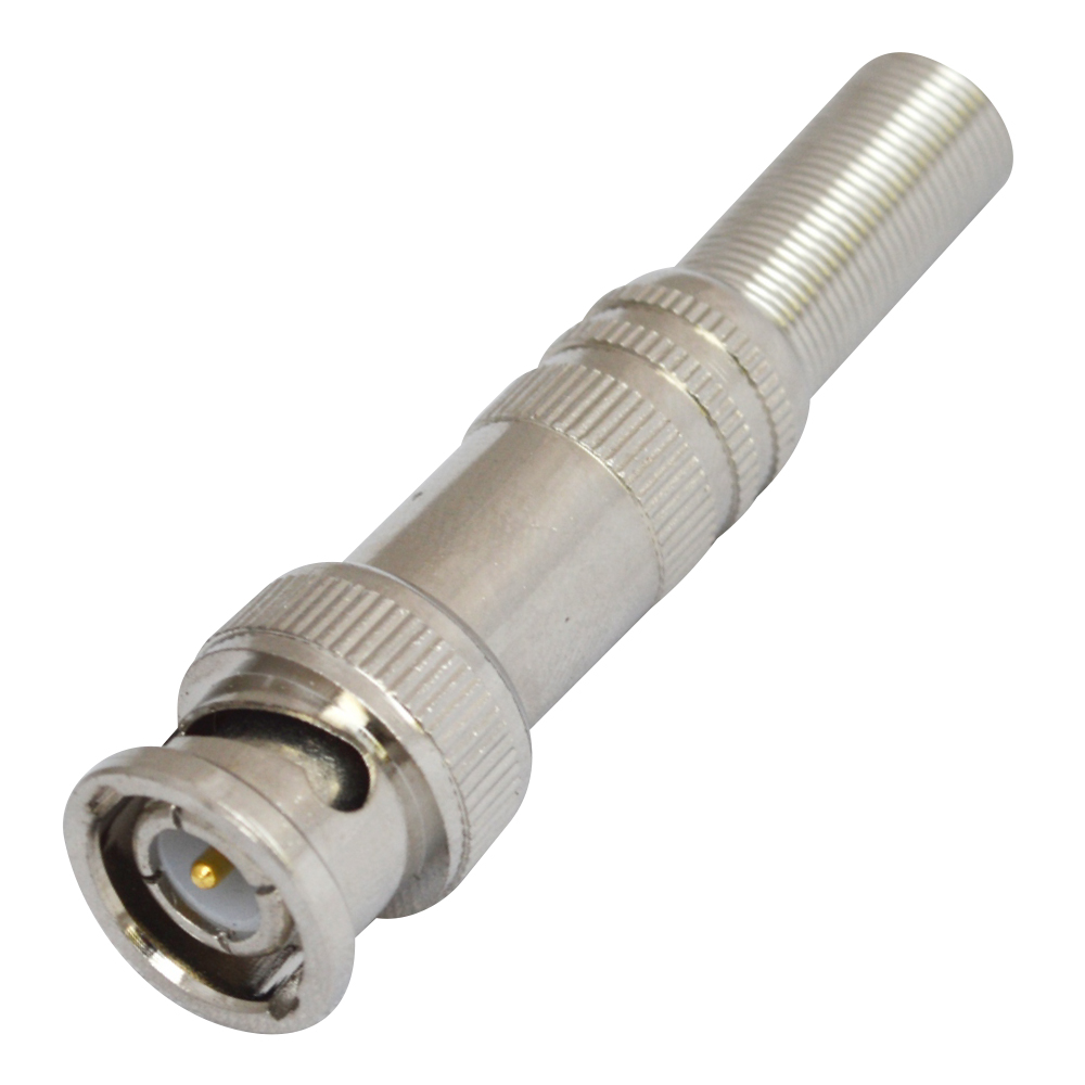 MX BNC MALE CONNECTOR FULLY METAL WITH SPRING